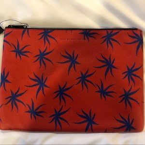 Marc by Marc Jacobs Real Leather Red Clutch NWT